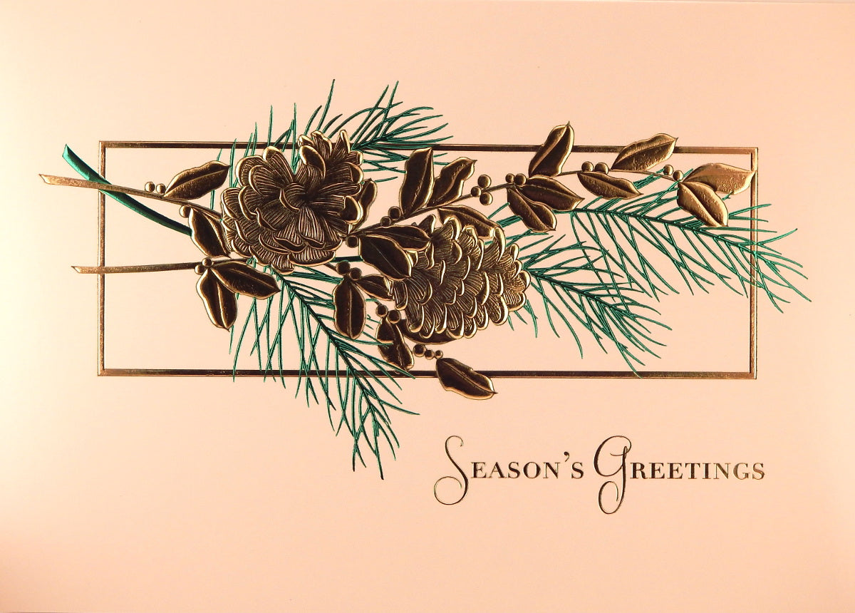 """Season's Greetings""<br>Scenic Christmas Cards (#782)<br>by Masterpiece Sudios"