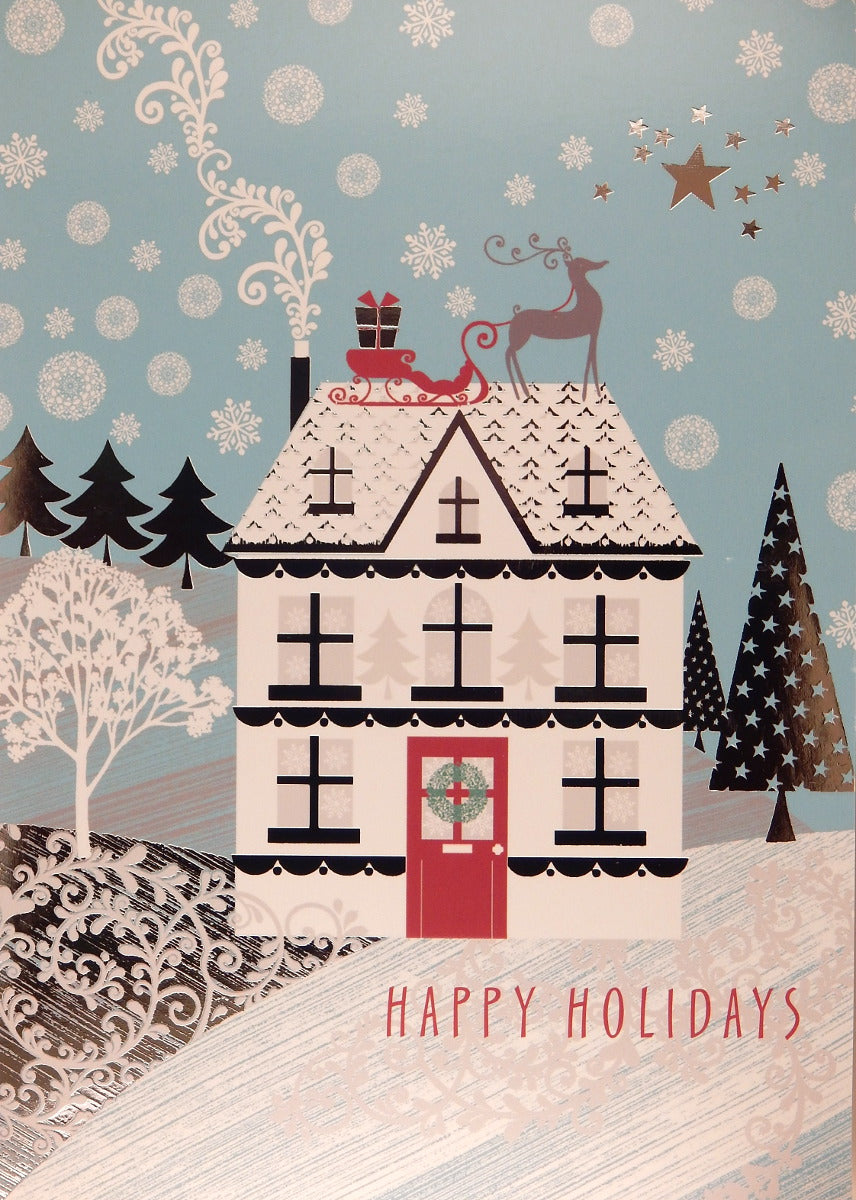 """Happy Holidays""<br>Scenic Christmas Cards (#787)<br>by Masterpiece Studios"