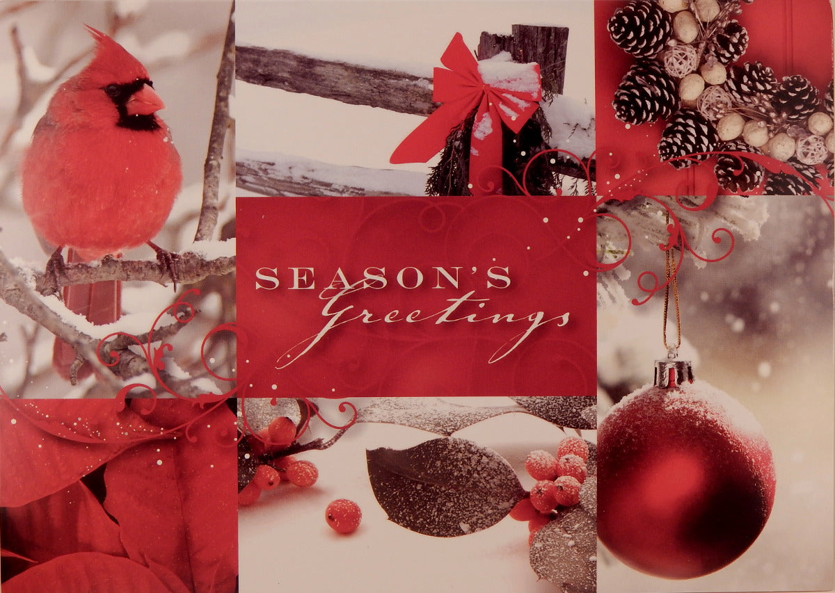 """Season's Greetings""<br>Bird Christmas Cards (#797)<br>by Masterpiece Studios"