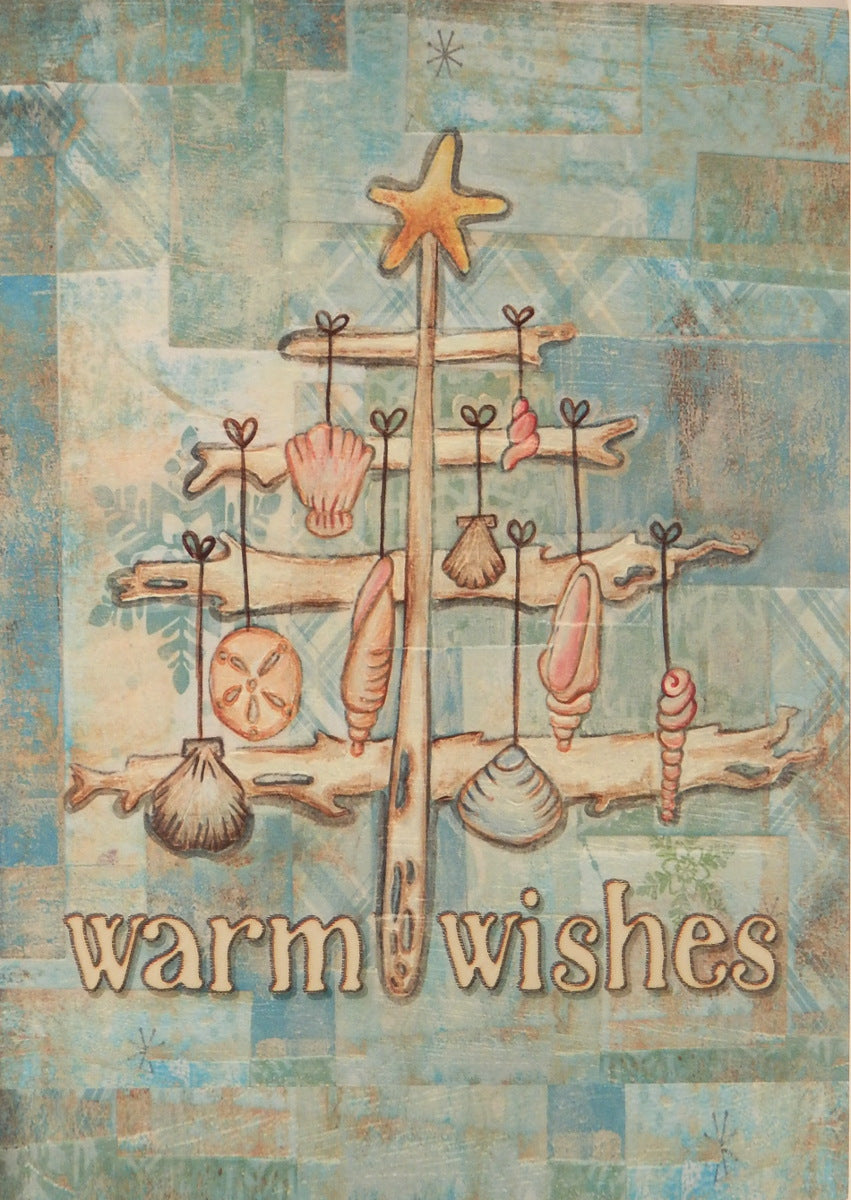 """Warm Wishes""<br>Nautical Christmas Cards (#841)<br>by LPG Greetings"
