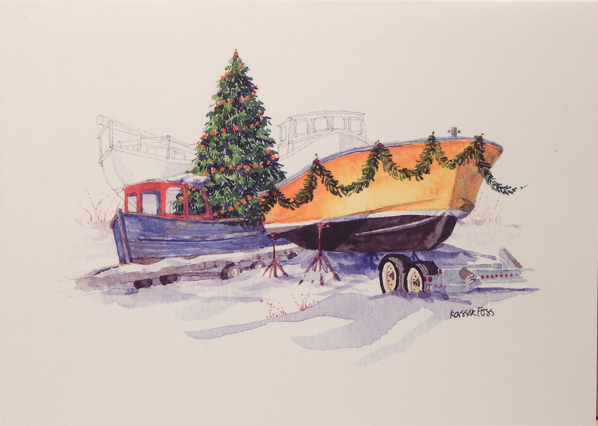 Nautical Christmas Cards (#847)<br>by Onion Hill Designs