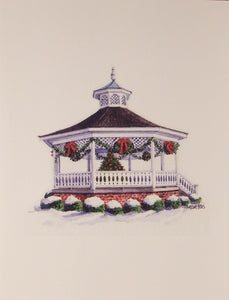 "Scenic Christmas Cards (#853)<br><font color=""red""><b>SMALLER CARD</b></font><br>by Onion Hill Designs"