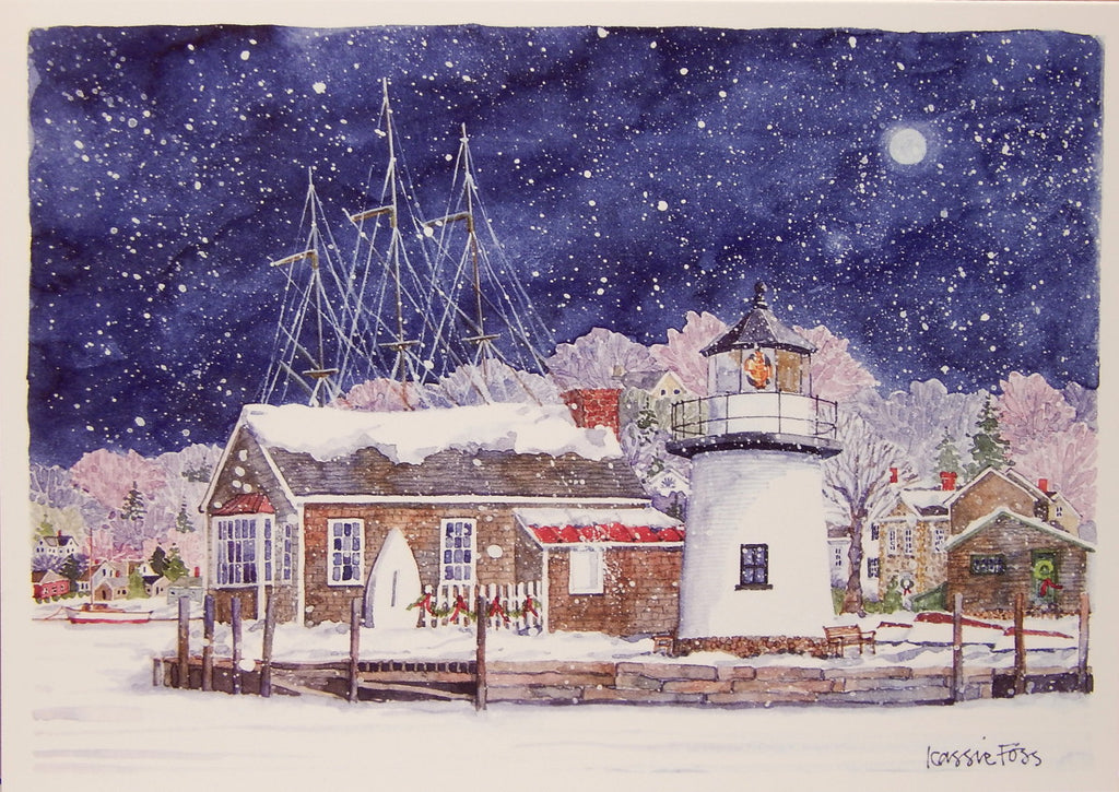 Lighthouse Christmas Cards (#858)<br>by Onion Hill Designs