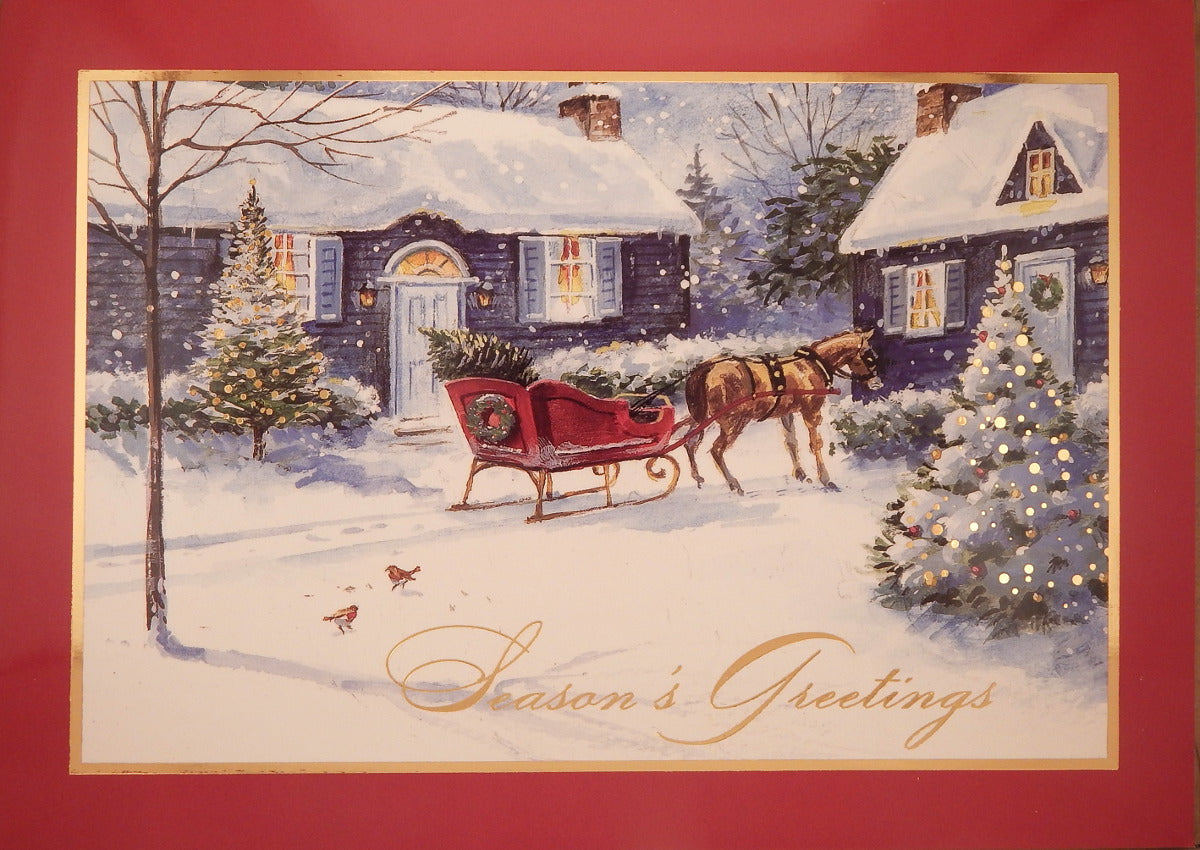 """Season's Greetings""<br>Scenic Christmas Cards (#871)<br>by Masterpiece Studios"