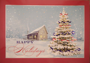 """Happy Holidays""<br>Scenic Christmas Cards (#875)<br>by Masterpiece Studios"
