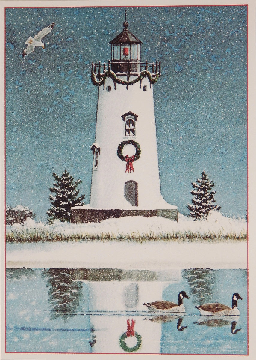 Lighthouse Christmas Cards (#899)<br>by Gaines Graphics