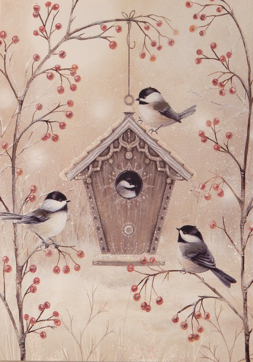 Bird Christmas Cards (#928)<br>Deluxe Glitter Collection<br>by LPG Greetings