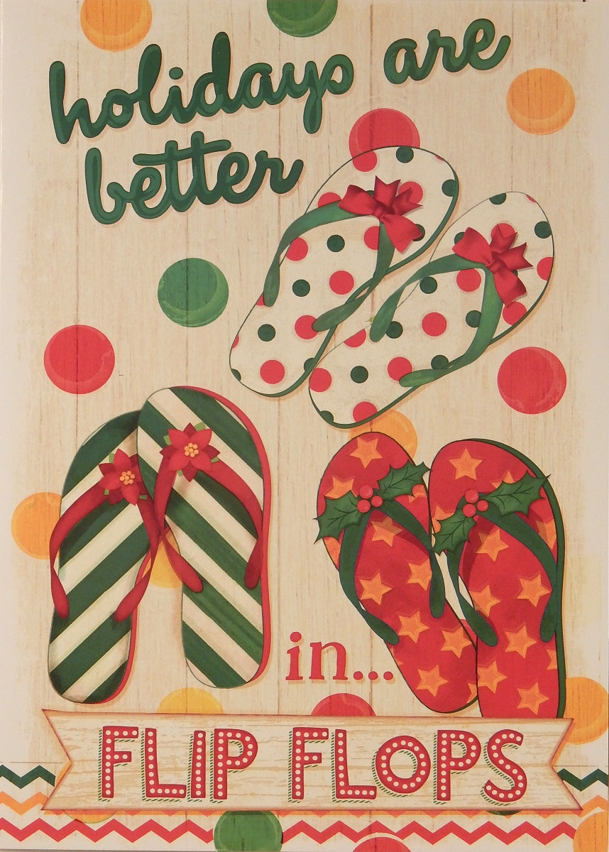 """holidays are better in flip flops""<br>Nautical Christmas Cards (#932)<br>by LPG Greetings"