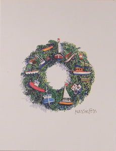 "Nautical Christmas Cards (#958)<br><font color=""red""><b>SMALLER CARD</b></font><br>by Onion Hill Designs"