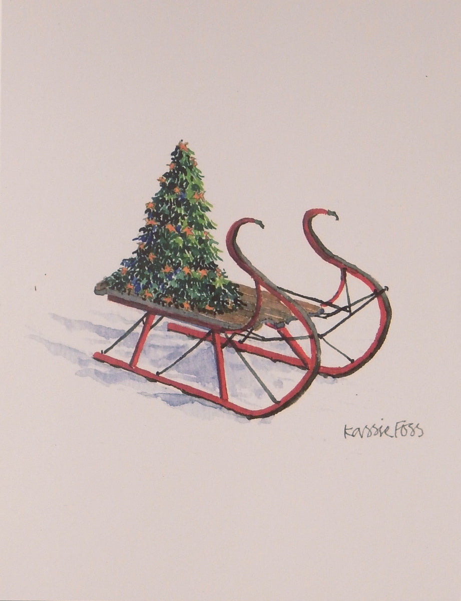 "Scenic Christmas Cards (#962)<br><font color=""red""><b>SMALLER CARD</b></font><br>by Onion Hill Designs"