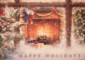 """Happy Holidays""<br>Scenic Christmas Cards (#992)<br>by Masterpiece Studios"