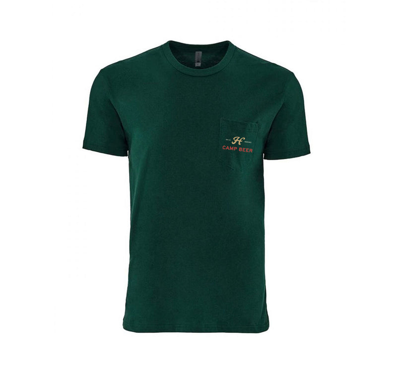 Camp Beer Pocket T-Shirt - Forest Green