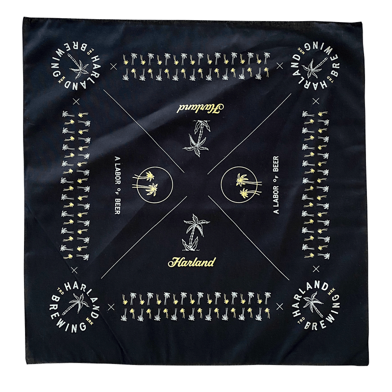 Tropical Trademark Bandana - Black