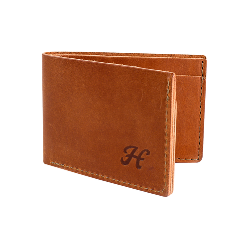 Leather Bi-Fold Wallet Brown | Harland Beer