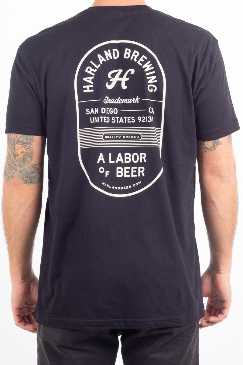 Quality Brewed Pocket T-Shirt - Black