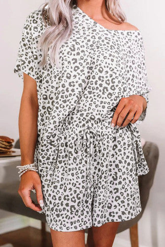 White Cheetah Pajamas