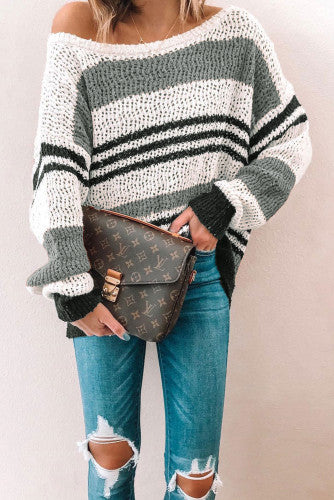 Striped Loose Knit Sweater