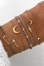 Load image into Gallery viewer, Moon and Star Bracelet Set