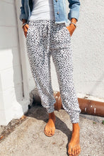 Load image into Gallery viewer, White Leopard Print Joggers