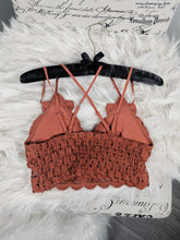 Load image into Gallery viewer, Rust Main St Lace Bralettes
