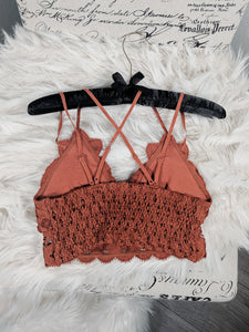 Rust Main St Lace Bralettes