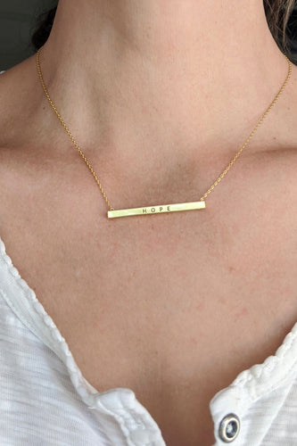 Gold Dipped Hope Necklace
