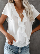 Load image into Gallery viewer, Palm Beach Ruffle Blouse