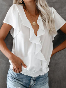Palm Beach Ruffle Blouse