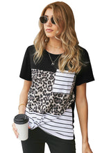 Load image into Gallery viewer, Leopard Striped T