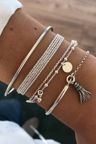 Multi-layer Pendant Bracelet Set