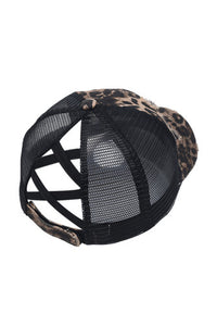 Distressed Leopard Cap