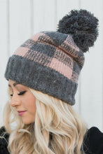 Load image into Gallery viewer, Pink Plaid Beanie