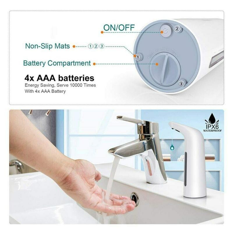 Infrared Automatic Soap Dispenser, Touchless Hand Sanitizer - Mebazo
