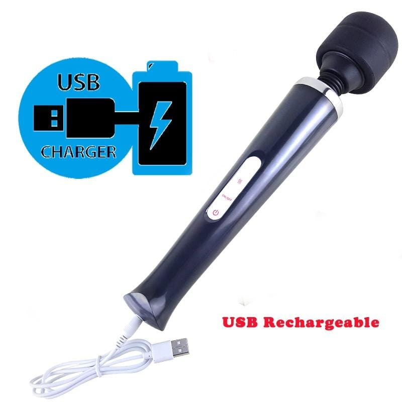 Huge Magic Wand Vibrators For Women, USB Charge Big AV Stick - Mebazo