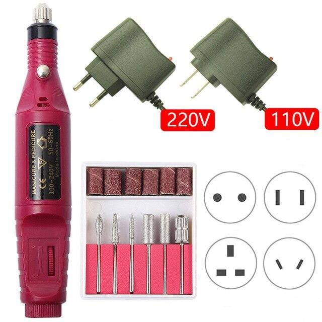 Portable Electric Nail Drill Kit Set - Mebazo