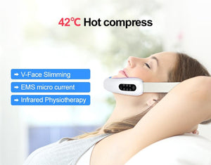 LED Photon Therapy V-Shape Slimming Face Massager - Mebazo