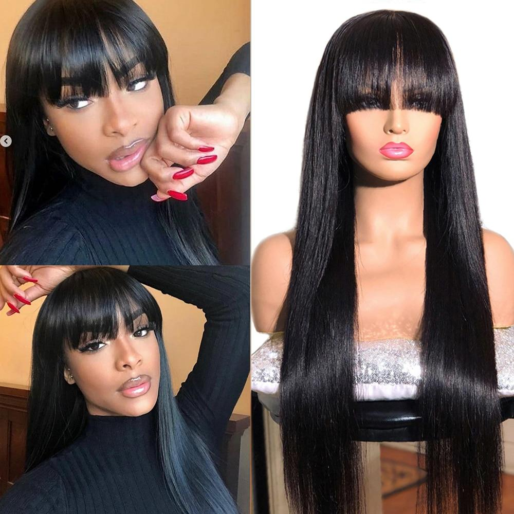 Human Hair Wigs With Bangs for Women - Mebazo