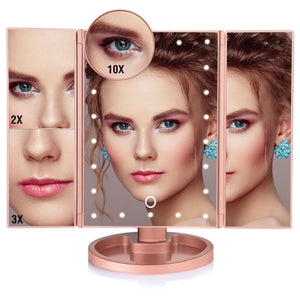 LED Touch Screen 22 Light Makeup Mirror - Mebazo