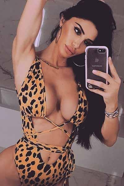 lezeda.com onepiece Leopard Print 1 / S Leopard and Snake Print Crop Top One Piece