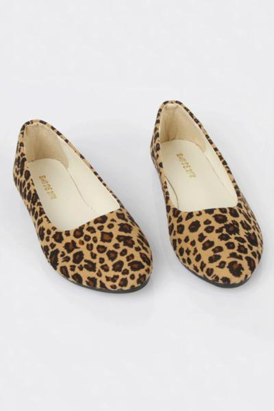 lezeda.com Shoes & Accessories Yellow / 35 Leopard-spotted Pointy-toe Loafer