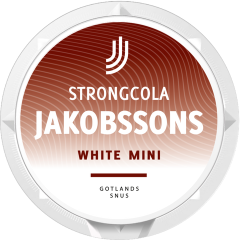 Jakobssons Strong Cola Mini White Portion