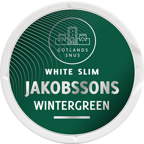 Jakobssons Wintergreen Slim White Portion