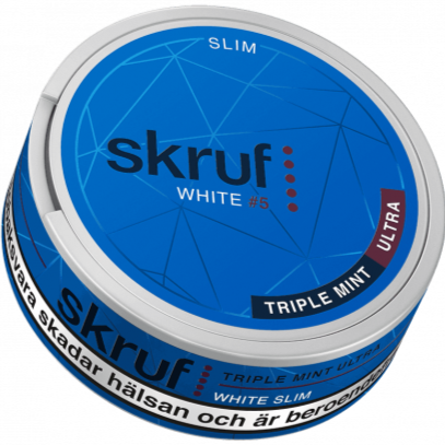 Skruf Triple Mint Ultra Strong White Slim
