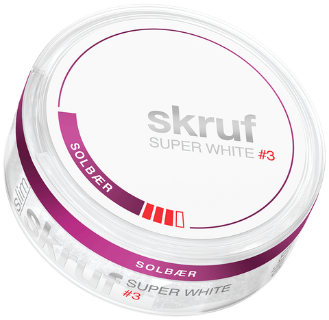 Skruf Super White Black Currant Slim #3