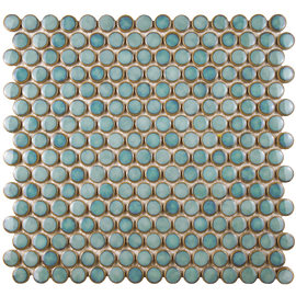 Penny Marine 12 Inch Porcelain Mosaic Floor & Wall Tile