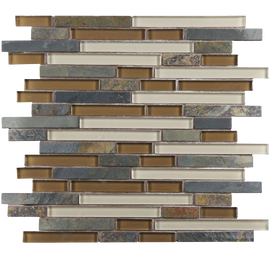 Sierra Piano Brixton 3-4 Inch Glass and Stone Mosaic Wall Tile