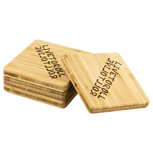 Live to Roll Bamboo Coasters