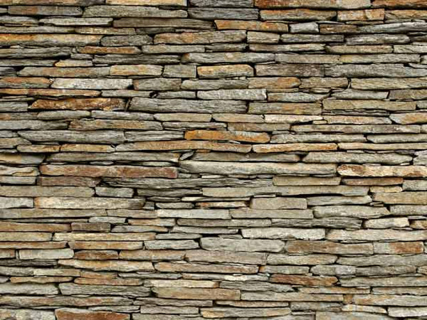 rustic stone fence fabric