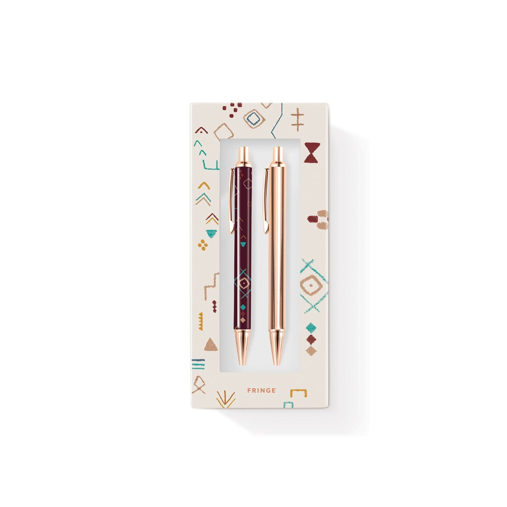 Luxe Pen + Pencil Set in Gift Box - Hello World