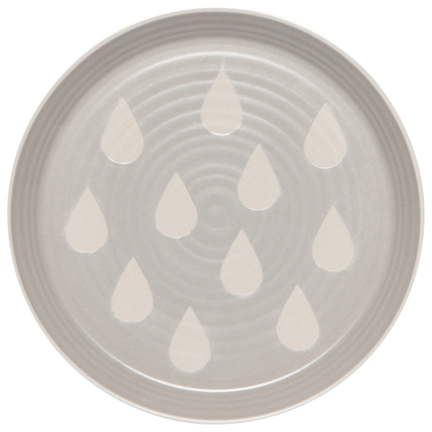 Cozy Matte Rain Drop Dinner Serving Plates - Hello World